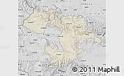Shaded Relief Map of Grad Sofija, desaturated