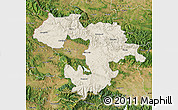 Shaded Relief Map of Grad Sofija, satellite outside