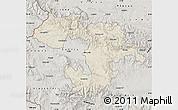 Shaded Relief Map of Grad Sofija, semi-desaturated