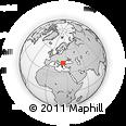 Outline Map of Grad Sofija