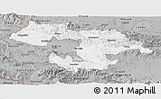 Gray Panoramic Map of Grad Sofija