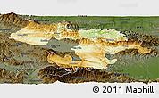 Physical Panoramic Map of Grad Sofija, darken