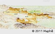 Physical Panoramic Map of Grad Sofija, lighten