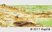 Physical Panoramic Map of Grad Sofija