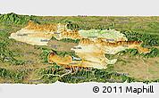 Physical Panoramic Map of Grad Sofija, satellite outside