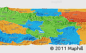 Political Panoramic Map of Grad Sofija