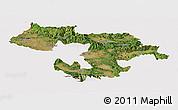 Satellite Panoramic Map of Grad Sofija, cropped outside