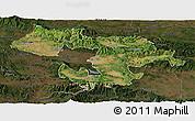 Satellite Panoramic Map of Grad Sofija, darken
