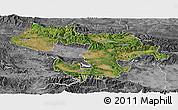 Satellite Panoramic Map of Grad Sofija, desaturated