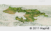 Satellite Panoramic Map of Grad Sofija, lighten