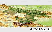 Satellite Panoramic Map of Grad Sofija, physical outside