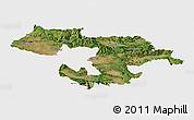 Satellite Panoramic Map of Grad Sofija, single color outside