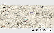 Shaded Relief Panoramic Map of Grad Sofija