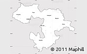 Silver Style Simple Map of Grad Sofija, cropped outside