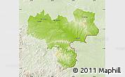 Physical Map of Haskovo, lighten