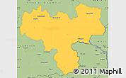 Savanna Style Simple Map of Haskovo