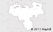 Silver Style Simple Map of Haskovo, cropped outside