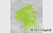 Physical Map of Jambol, lighten, desaturated
