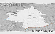Gray Panoramic Map of Jambol
