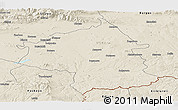 Shaded Relief Panoramic Map of Jambol