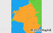 Political Simple Map of Jambol