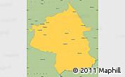 Savanna Style Simple Map of Jambol