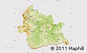 Physical Map of Kardzali, cropped outside