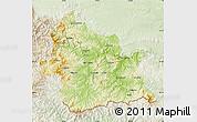 Physical Map of Kardzali, lighten