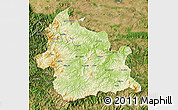 Physical Map of Kardzali, satellite outside