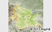 Physical Map of Kardzali, semi-desaturated