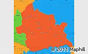 Political Simple Map of Kardzali