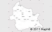 Silver Style Simple Map of Kardzali, cropped outside