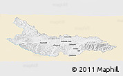 Classic Style Panoramic Map of Kjustendil, single color outside