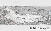 Gray Panoramic Map of Kjustendil