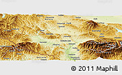 Physical Panoramic Map of Kjustendil