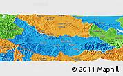Political Panoramic Map of Kjustendil