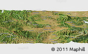 Satellite Panoramic Map of Kjustendil