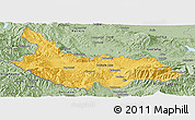 Savanna Style Panoramic Map of Kjustendil