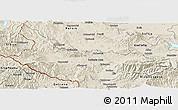 Shaded Relief Panoramic Map of Kjustendil