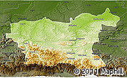 Physical 3D Map of Lovec, darken