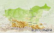 Physical 3D Map of Lovec, lighten