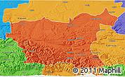 Political 3D Map of Lovec