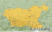 Savanna Style 3D Map of Lovec