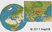 Satellite Location Map of Lovec