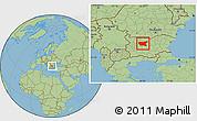 Savanna Style Location Map of Lovec