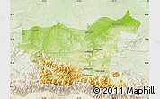 Physical Map of Lovec, lighten