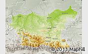 Physical Map of Lovec, lighten, semi-desaturated