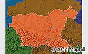 Political Map of Lovec, darken