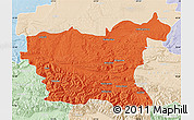 Political Map of Lovec, lighten