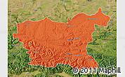 Political Map of Lovec, satellite outside